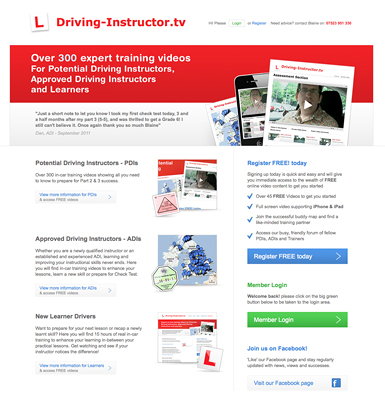 Driving Instructor Training Videos website